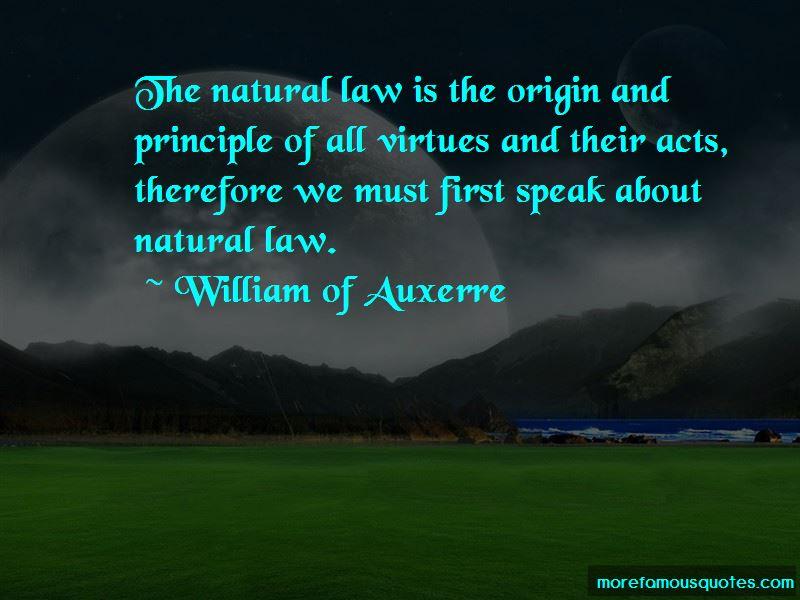 William Of Auxerre Quotes