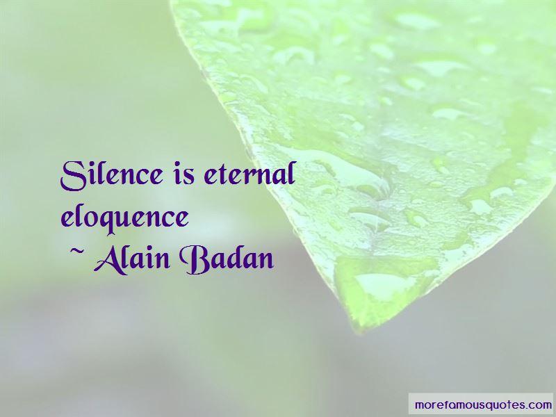 Alain Badan Quotes