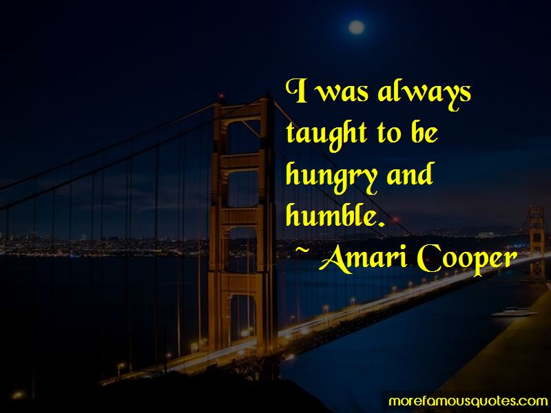 Amari Cooper Quotes
