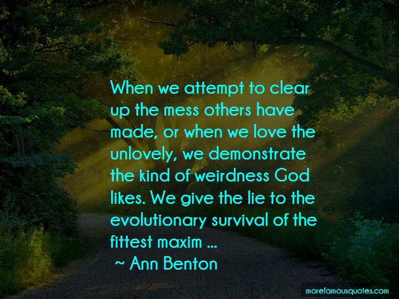 Ann Benton Quotes