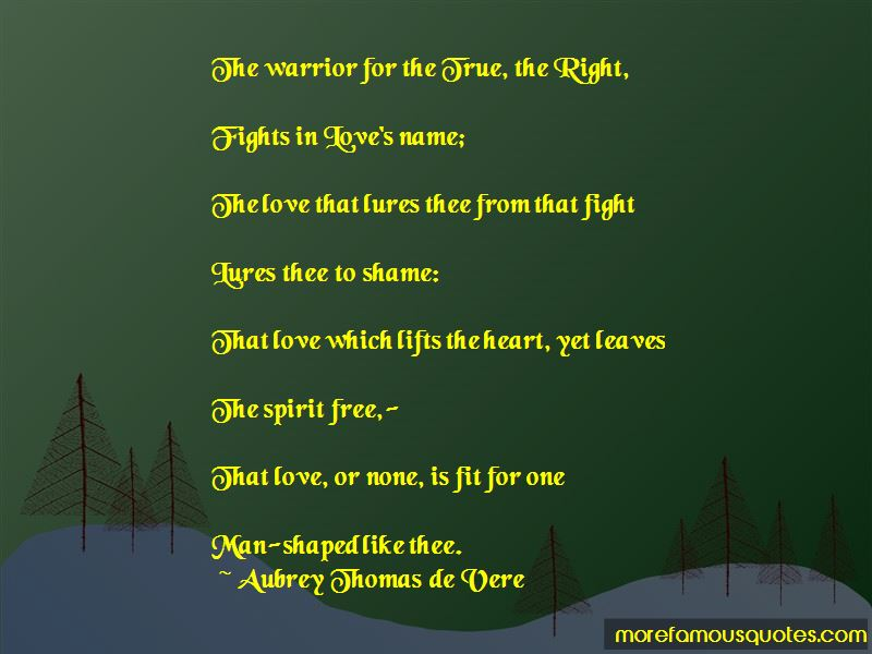 Aubrey Thomas De Vere Quotes Pictures 2