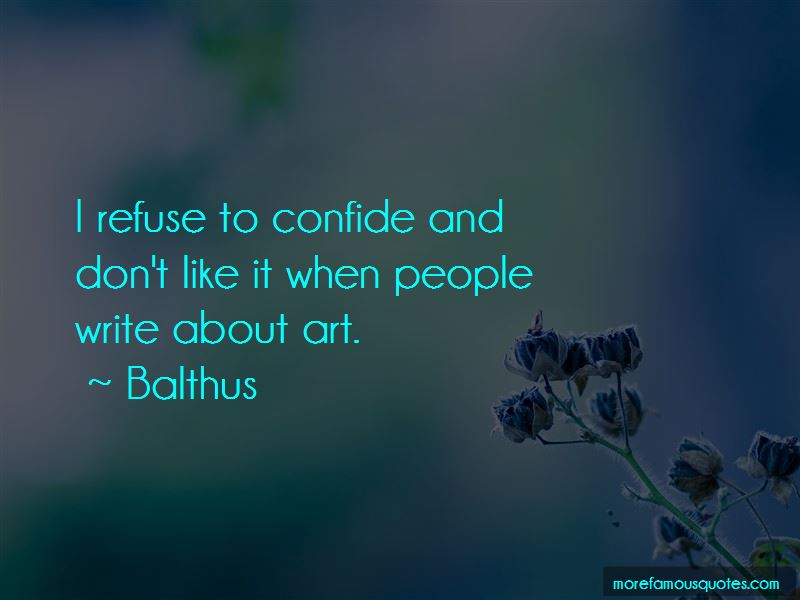 Balthus Quotes Pictures 4