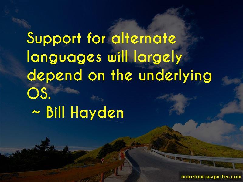Bill Hayden Quotes Pictures 4