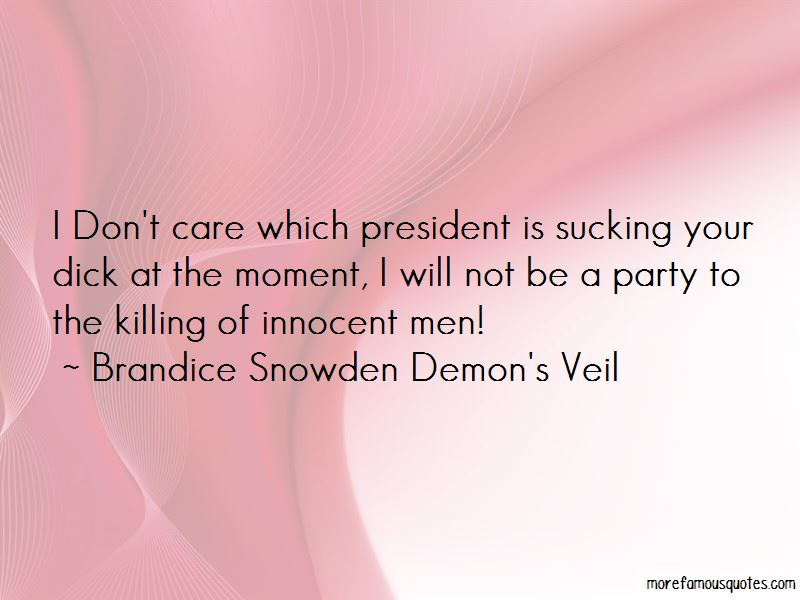 Brandice Snowden Demon\'s Veil quotes: top 1 famous quotes by ...