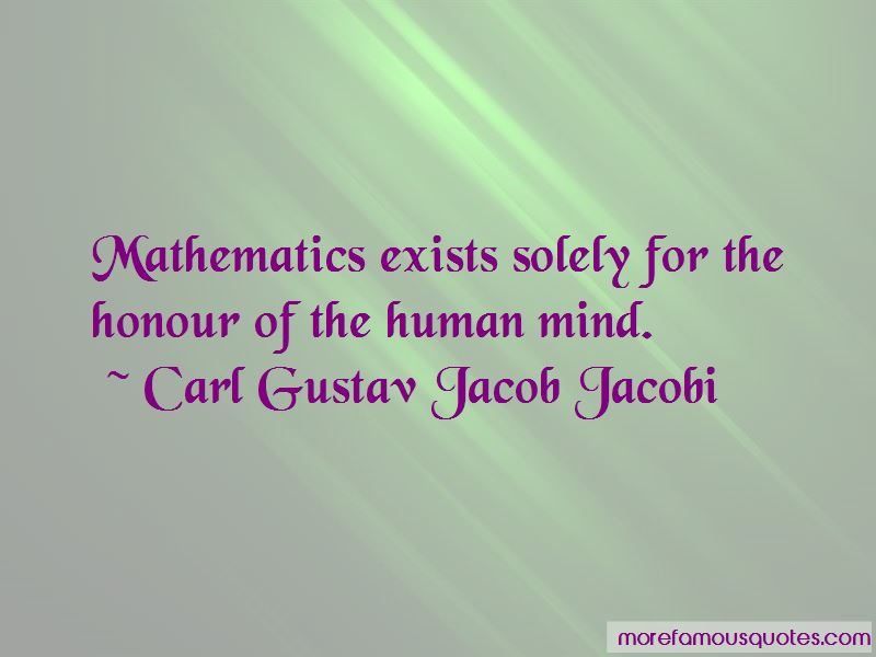 Carl Gustav Jacob Jacobi Quotes