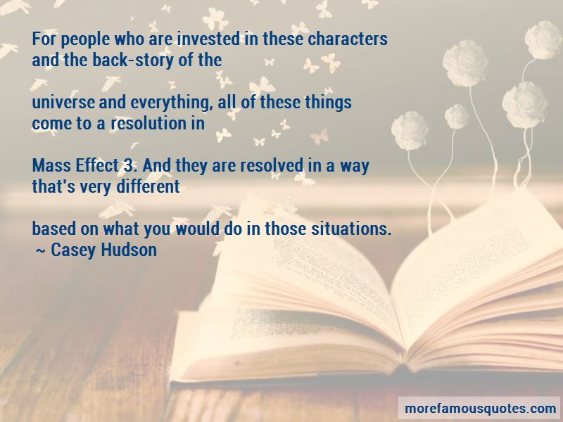 Casey Hudson Quotes