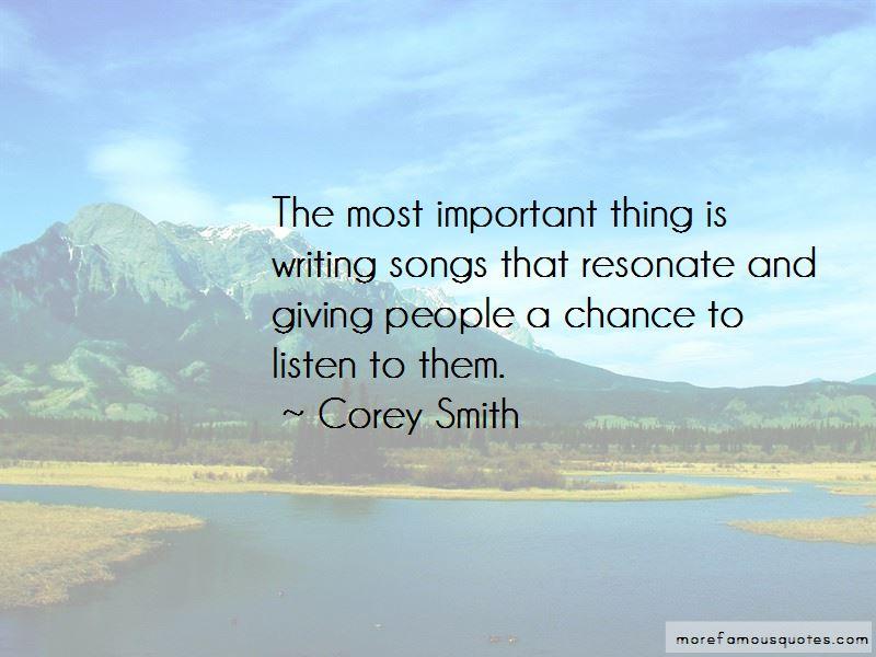 Corey Smith Quotes