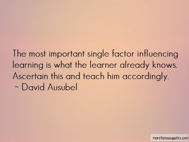 David Ausubel Quotes