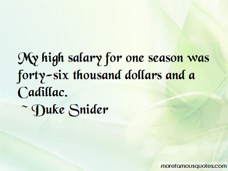 Duke Snider Quotes