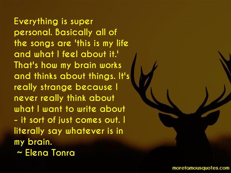 Elena Tonra Quotes Pictures 2