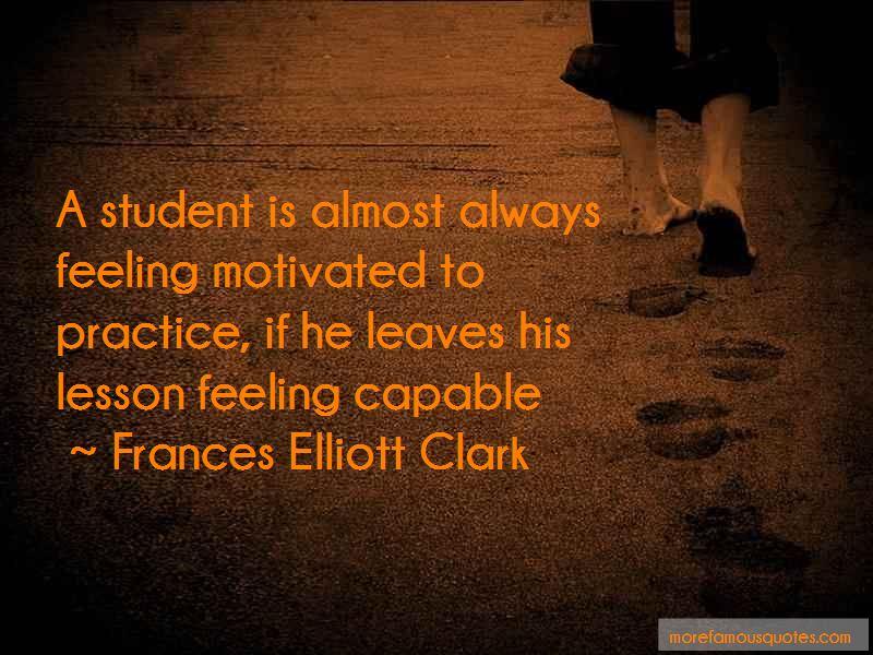 Frances Elliott Clark Quotes