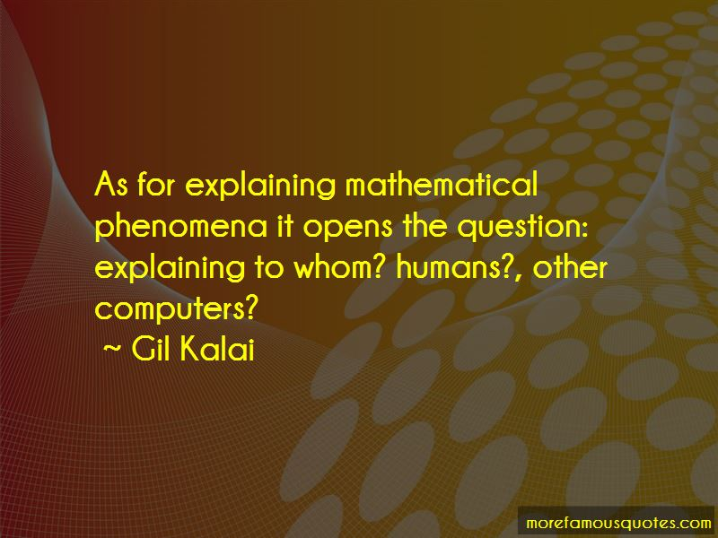 Gil Kalai Quotes Pictures 2