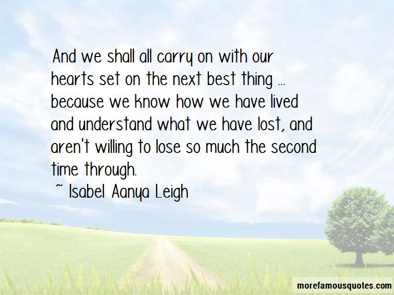 Isabel Aanya Leigh Quotes Pictures 4