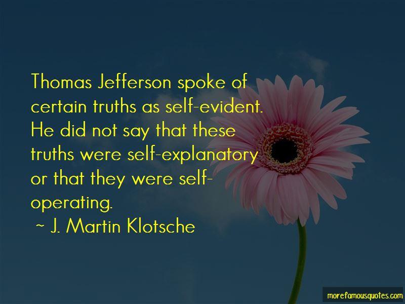 J. Martin Klotsche Quotes