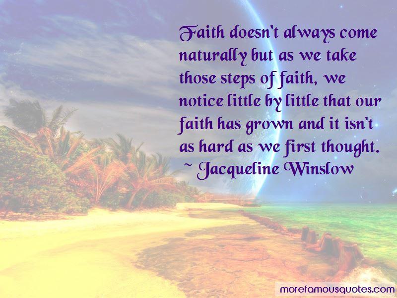 Jacqueline Winslow Quotes