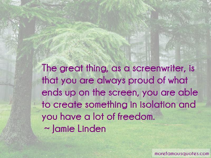Jamie Linden Quotes