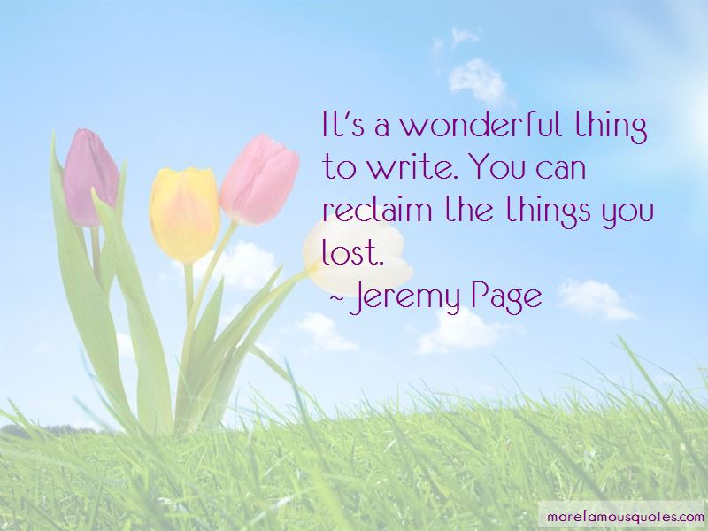 Jeremy Page Quotes