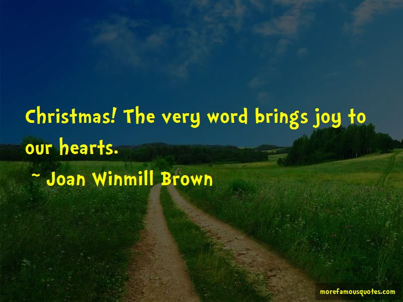Joan Winmill Brown Quotes Pictures 2