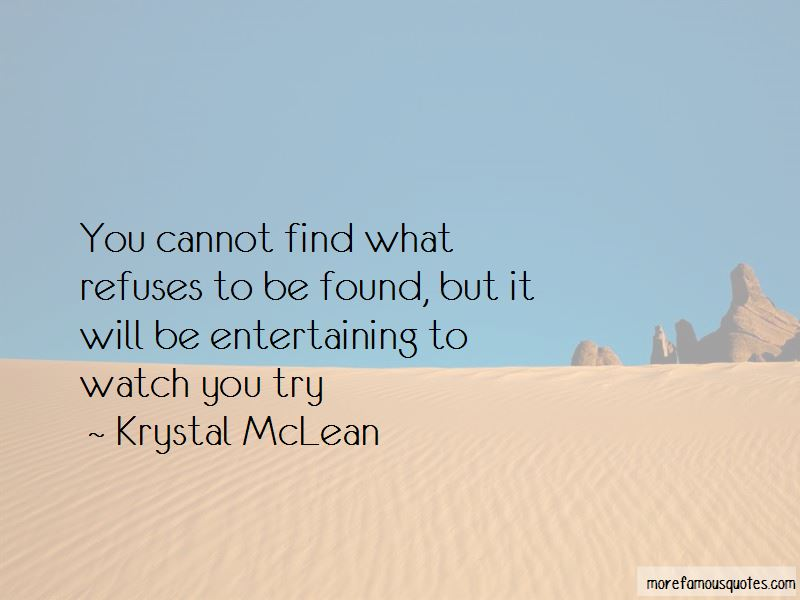 Krystal McLean Quotes Pictures 3