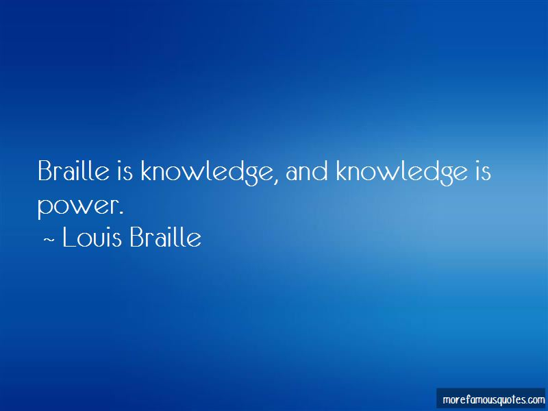 Louis Braille Quotes