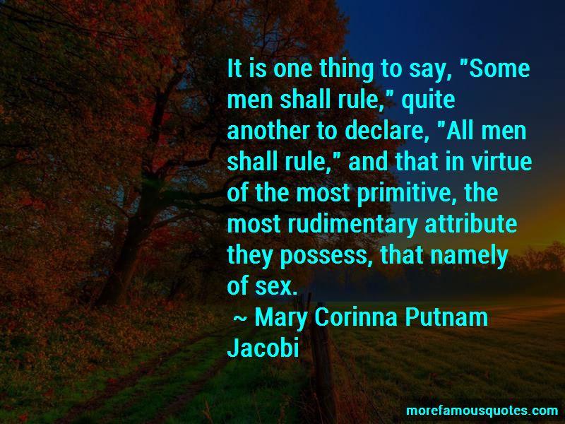 Mary Corinna Putnam Jacobi Quotes Pictures 2
