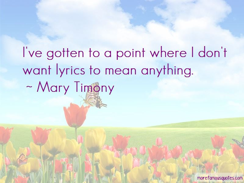 Mary Timony Quotes Pictures 3