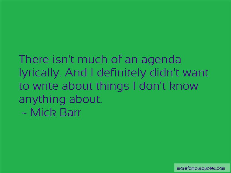 Mick Barr Quotes Pictures 4