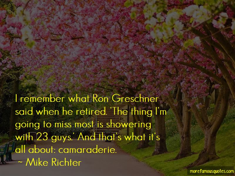 Mike Richter Quotes