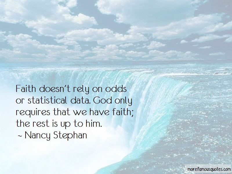 Nancy Stephan Quotes