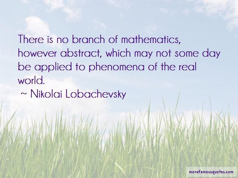 Nikolai Lobachevsky Quotes