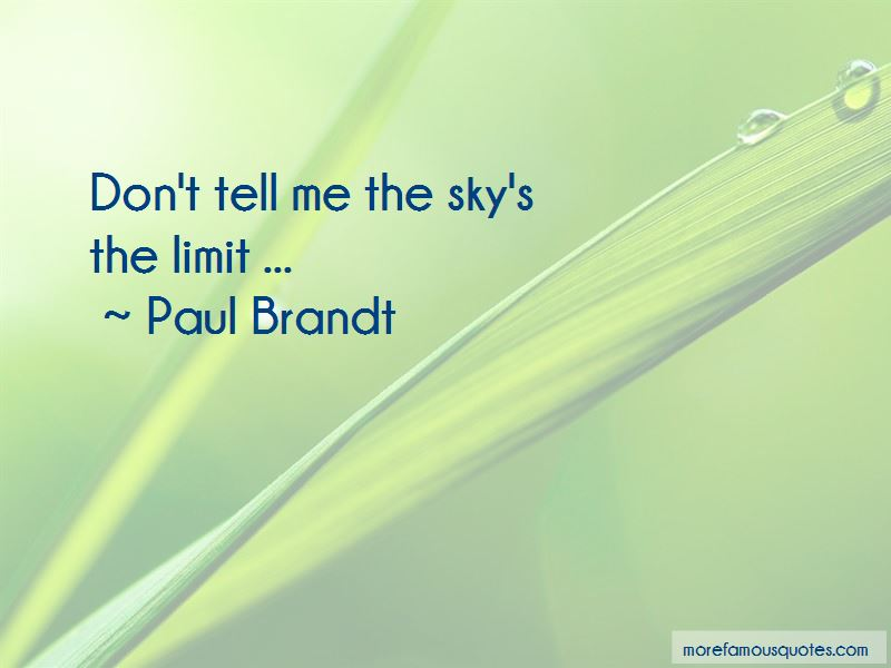 Paul Brandt Quotes