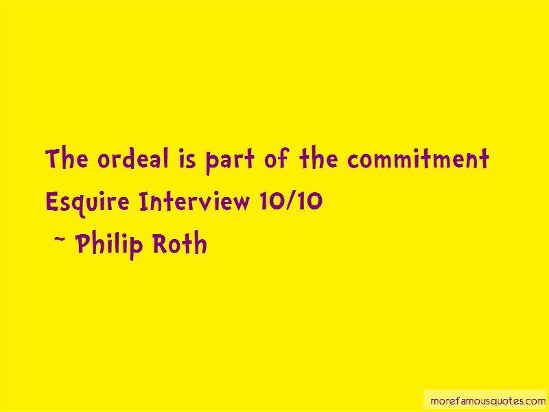 Philip Roth Quotes