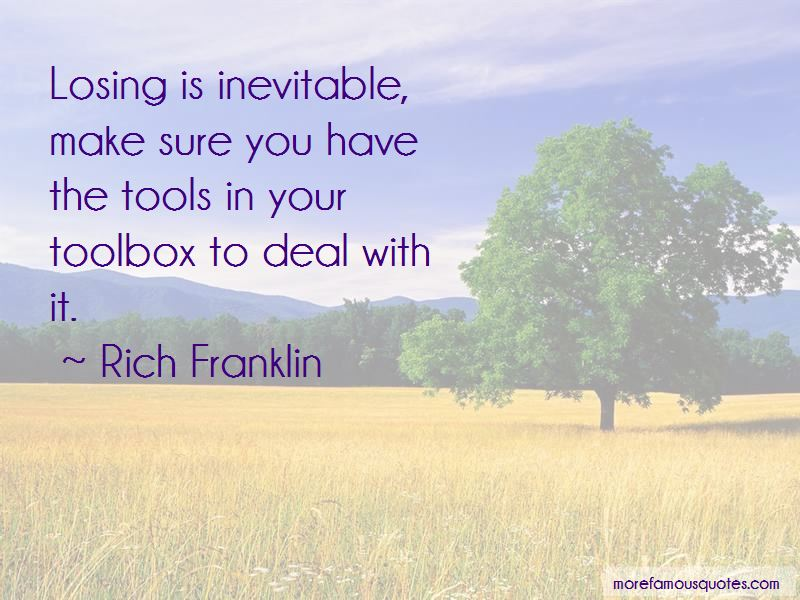 Rich Franklin Quotes