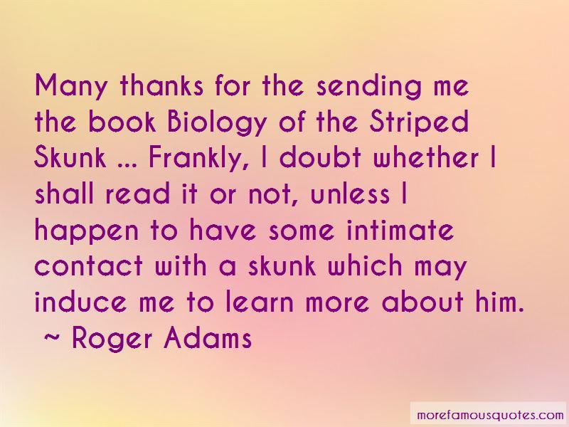Roger Adams Quotes