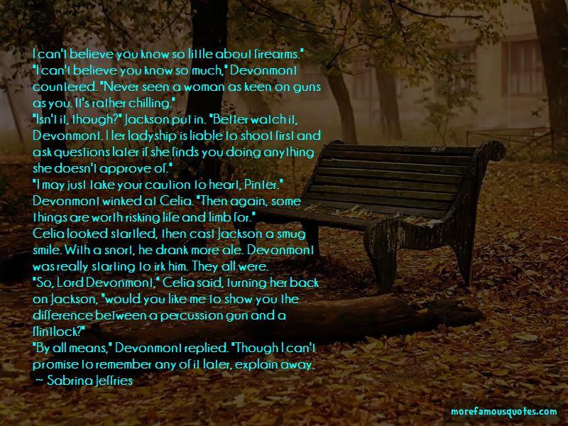 Sabrina Jeffries Quotes