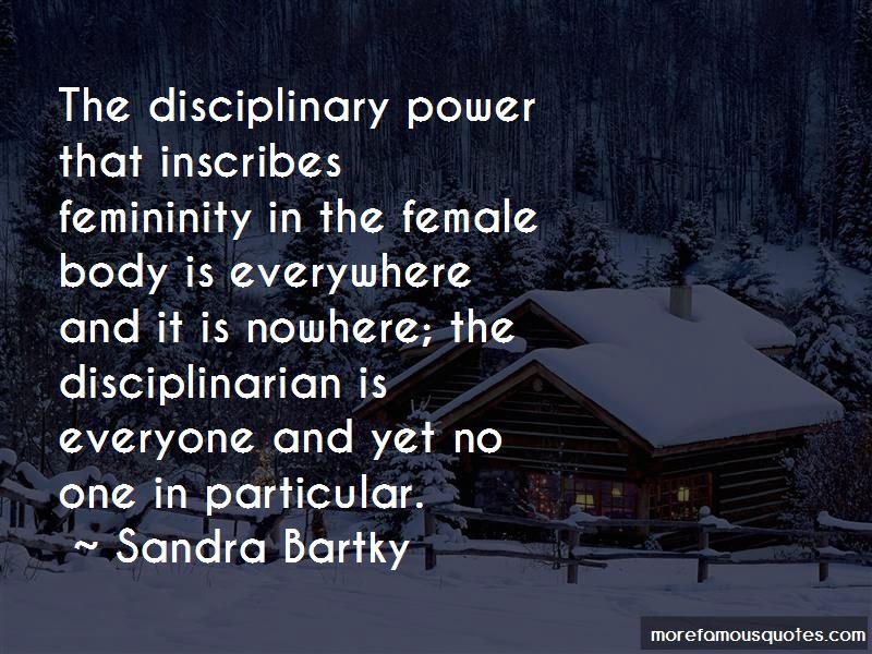 an analysis of the feminine subject in bartkys essay