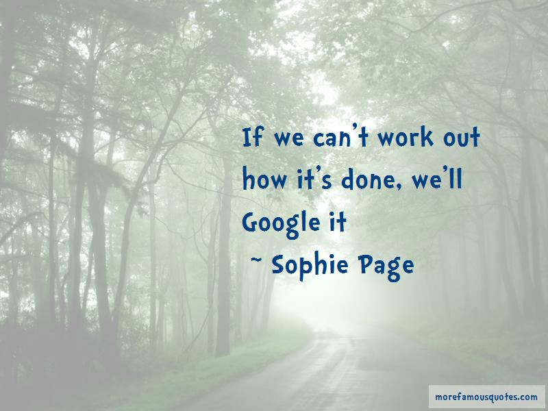 Sophie Page Quotes Pictures 3