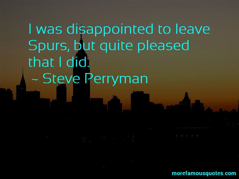 Steve Perryman Quotes