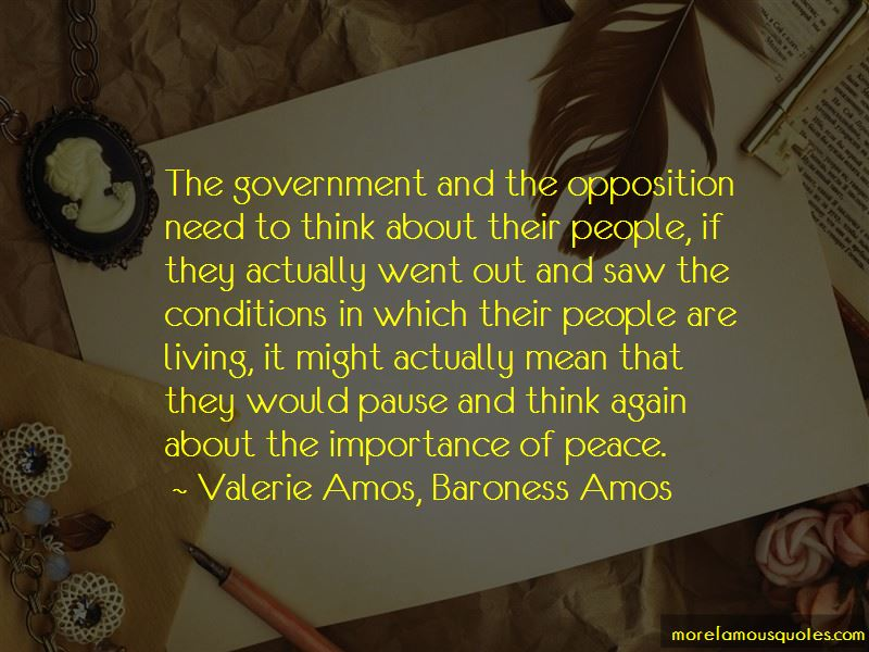 Valerie Amos, Baroness Amos Quotes