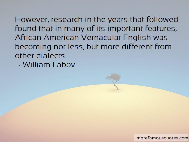William Labov Quotes