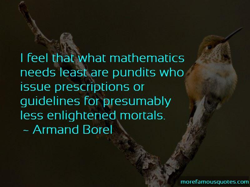 Armand Borel Quotes