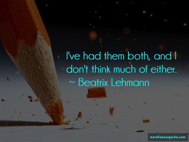 Beatrix Lehmann Quotes