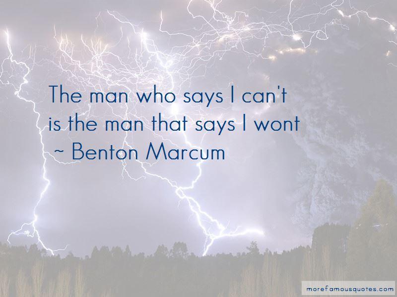 Benton Marcum Quotes