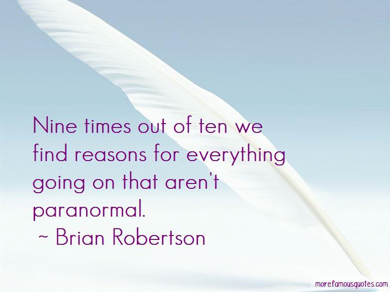 Brian Robertson Quotes