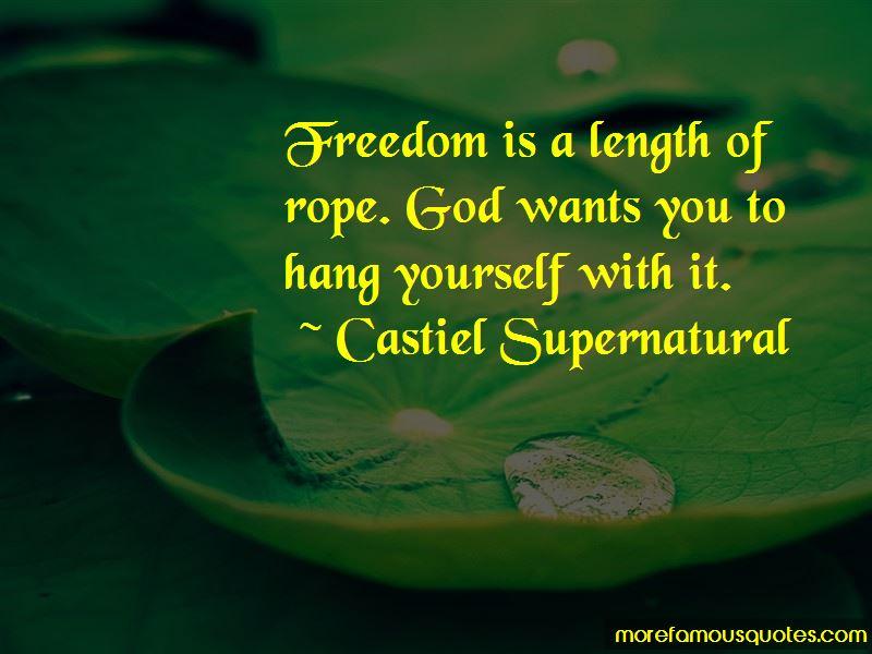 Castiel Supernatural Quotes