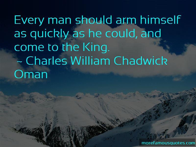 Charles William Chadwick Oman Quotes