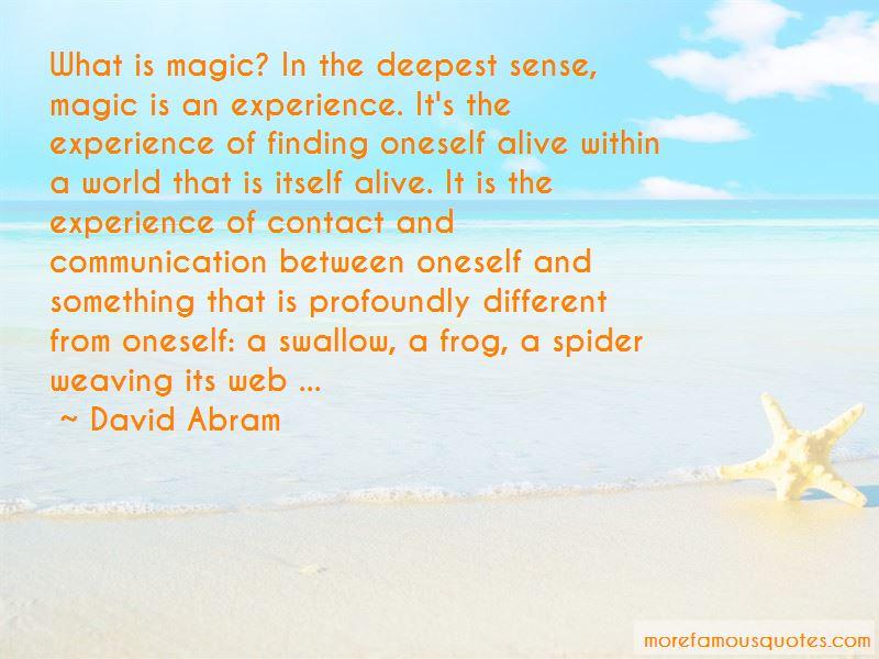 David Abram Quotes