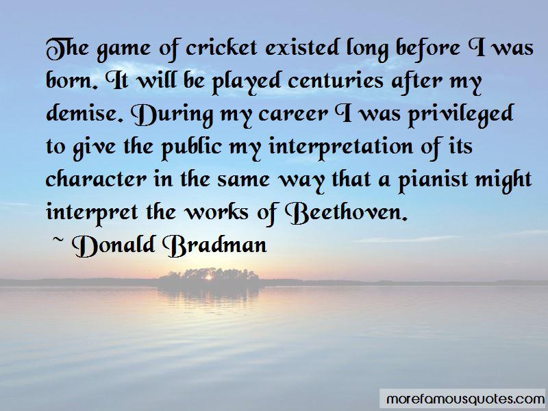 Donald Bradman Quotes Pictures 4