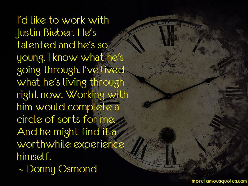 Donny Osmond Quotes Pictures 2