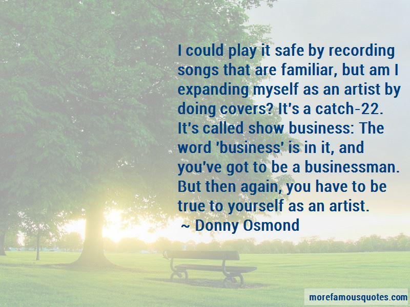 Donny Osmond Quotes
